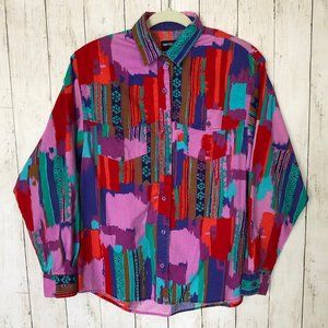 VINTAGE 90s Bright Rodeo Shirt G7